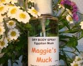 Dry Body Spray, Egyptian Musk 3oz.