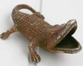 Gecko Lizard Soviet Ash Tray - Cast Iron Ashtray - 1970s from Russia / Soviet Union / USSR