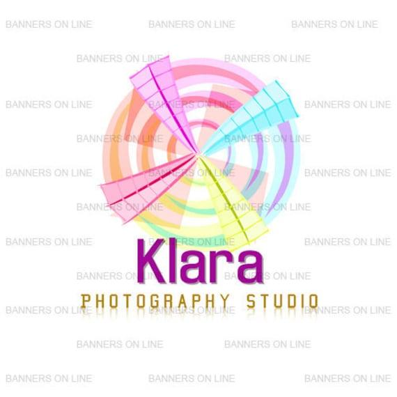 Photographer  Colorful spring logo design 199A