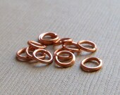5mm solid copper jumprings, 100 pieces