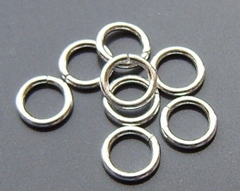 5mm sterling silver jump rings 20g, 50 pieces