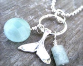 Nautical Whale's Tail Necklace-Sterling