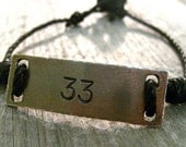 Personalized Mens Bracelet- Fathers Day Gift- Gifts For Guys- Rustic- Groomsmen Gift