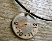 Guys Necklace- Mens Leather Necklace- Gift For Him- Black Leather Necklace