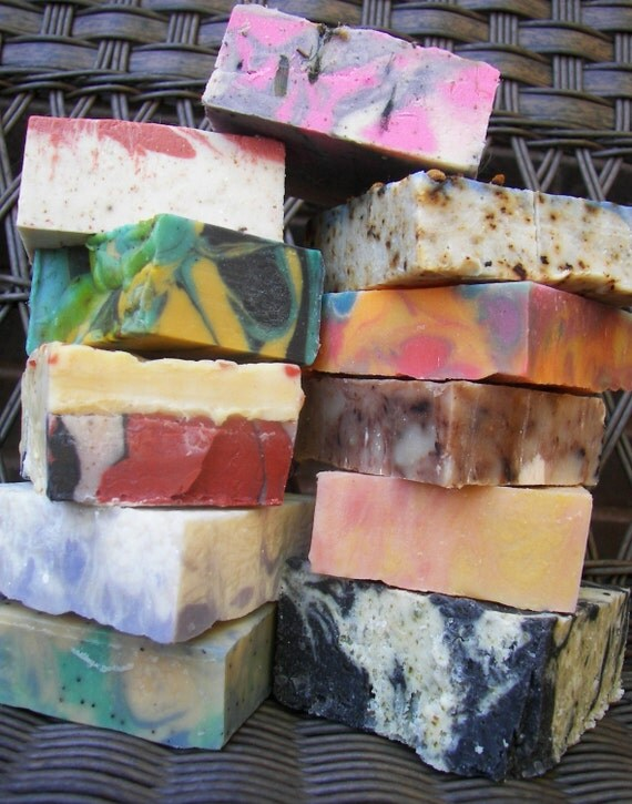 ANY 3 FOR 10 Cold Process Soaps - Huge selection - ALL VEGAN