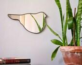 Bird Mirror No. 7 / Handmade Wall Mirror Bird Shape Bird Silhouette Bird Art