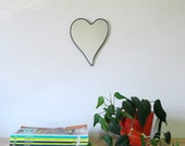 Heart Mirror No. 1 / Handmade Wall Mirror Heart Shape Art Outline Cœur Cuore Herz Valentines Day Gift