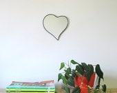 Heart Mirror No. 2 / Handmade Wall Mirror Valentines Day Cœur Miroir Heart Shaped Mirror Wall Hanging Wall Decor