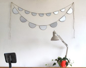 Pair Of Mirror Buntings Small Large Half Circle Banner Garland Strand Pair Of 2 Fluxglass Dennis Smith