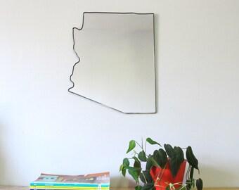 Arizona Mirror / Wall Mirror State Outline Silhouette AZ Shape Wall Art Phoenix Shape