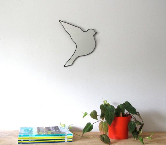 Bird Mirror Flying / Right / Handmade Wall Mirror Shape Outline Art Modern Decor