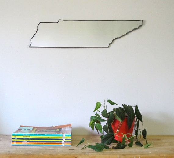 Tennessee Mirror / Wall Mirror State Outline Silhouette Shape Art University Of UT Vols Nashville