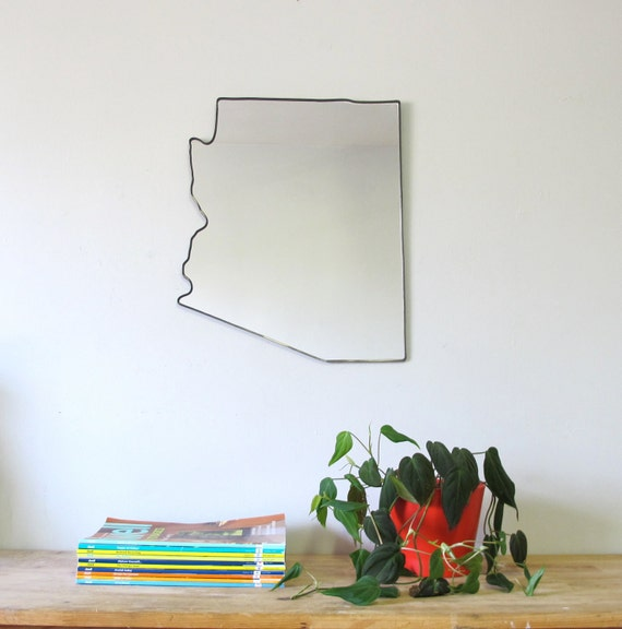 Arizona Mirror / Wall Mirror State Outline Silhouette AZ Shape Wall Art Phoenix Shape