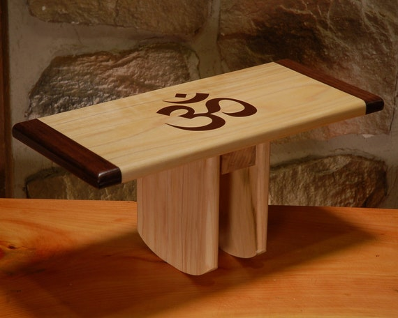 Yoga Meditation Stool Bench Seiza Bench With Om Symbol