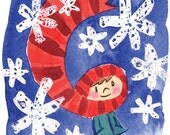Christmas Scarf cards (Pack of 10)