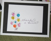 Thanks a bunch-- thank you note cards --great for weddings & showers--bunch of flowers