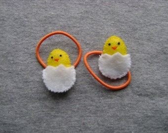 Baby Chick Ponytail Holders