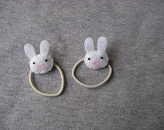 Bunny Rabbit Ponytail Holders