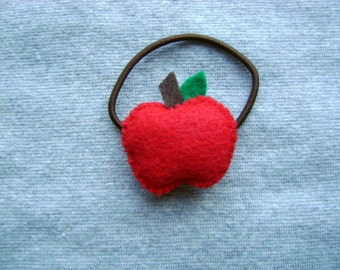 Red Apple Ponytail Holder