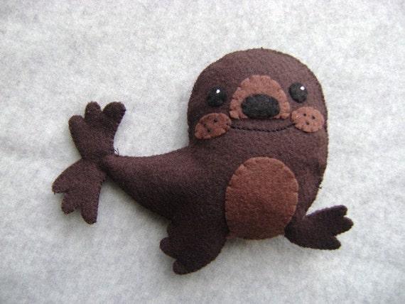 Brown Seal Stuffed Toy