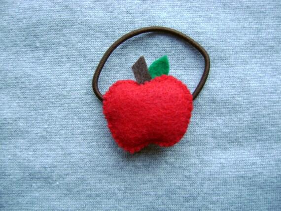 Red Apple Ponytail Holder