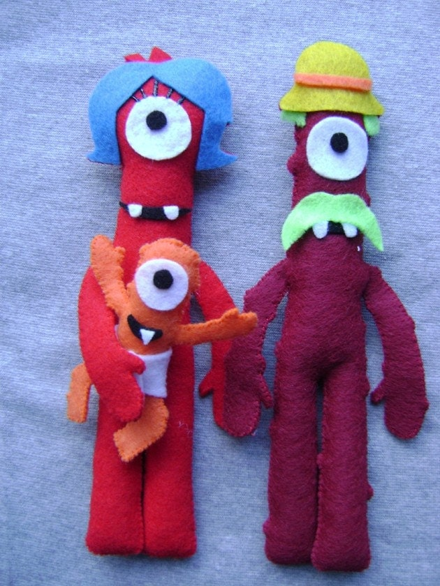 Dolls Inspired By Muno S Family From Yo Gabba Gabba Set