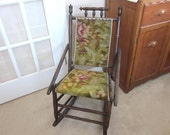Vintage Child's Rocking Chair with Original Upholstery