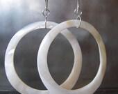 Flirty Shell Hoop Earrings