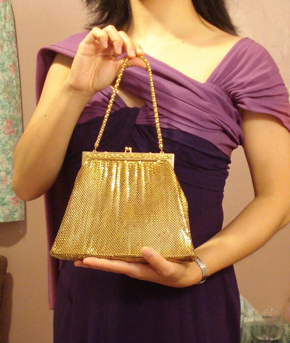 Reserved 40s 50s Purse. Whiting & Davis. Gold Mesh. 50% off sale.