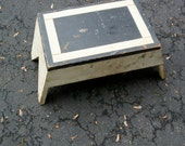 Art Deco Wooden Painted Stool