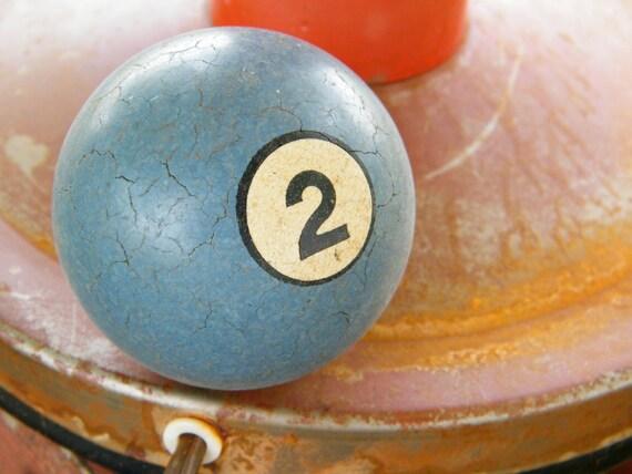 Vintage  Blue Billiard Ball No. 2