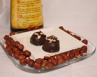 Dark Chocolate Hazelnut Truffles - 5 Truffles - Approx. 1/3lb