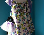 Personalized flowers pillow case dress sizes 12mnth to 8-FREE SHIPPING- matching diaper cover is available