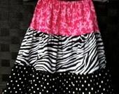 Versatile custom made tiered twirly skirt