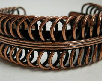 Vintage 1960s Renoir Cuff Bracelet - Modernist Copper - 1950s Fall Fashions