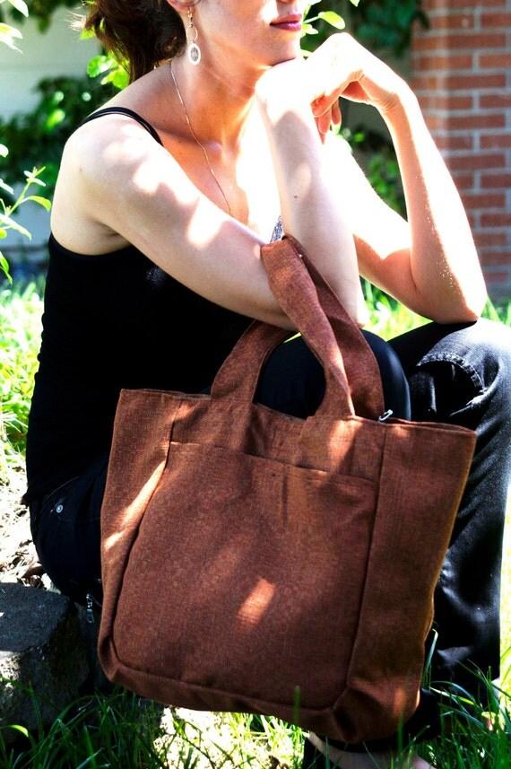 Laptop school Brown bag.Shopping bag. Size 18x14
