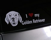 Vinyl Decal -- Dog Breeds -- Golden Retriever -- 4x11 -- Premium Grade Vinyl