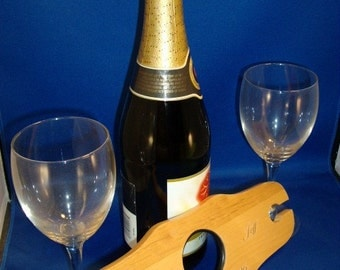 2-Wine Glass Holder -- Personalized for your special event.
