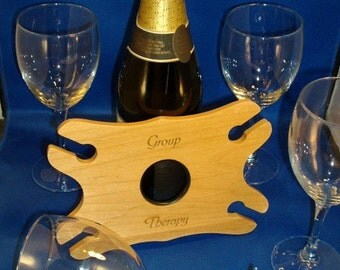 4-Wine Glass Holder -- Personalized for your special event.