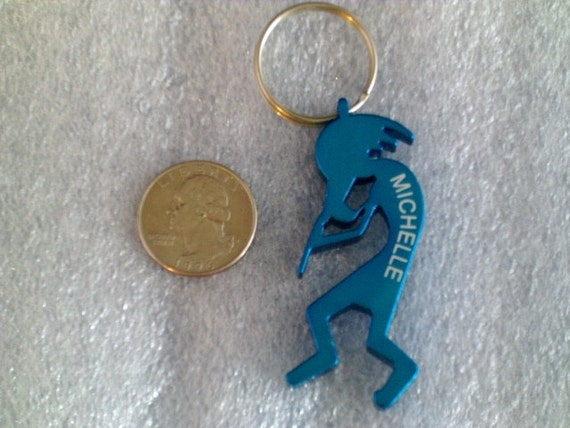 items similar to kokopelli music man shaped keychain bottle opener personalized laser. Black Bedroom Furniture Sets. Home Design Ideas
