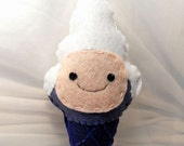 Finn Adventure Time Ice cream cone plushie - OOAK & Ready to Ship