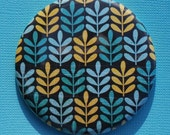 BUY 1 GET 1 FREE SALE Little Yellow and Blue Plants Paper Pocket Mirror