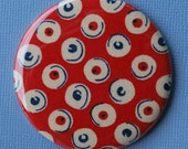 Buy 1 Get 1 Free Sale Red Polka Dot Fabric Pocket Mirror