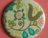 Buy 1 Get 1 FREE SALE Swirly Flower Fabric Pocket Mirror