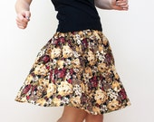 Vtg 70s  AUTUMN floral skirt- size M