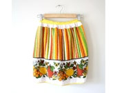 Vintage Citrus Fruit and Flowers Apron