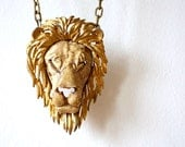 Vintage Razza Leo the Lion Zodiac 1970s Oversized Pendant