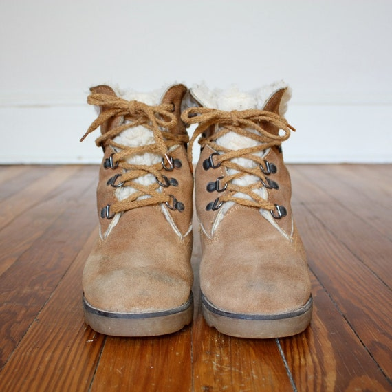 Vintage 1970s Thom Mcan Brown Suede Mountain Hiking Boots