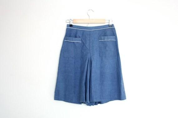Vintage Denim Scooter Skirt Size S/M