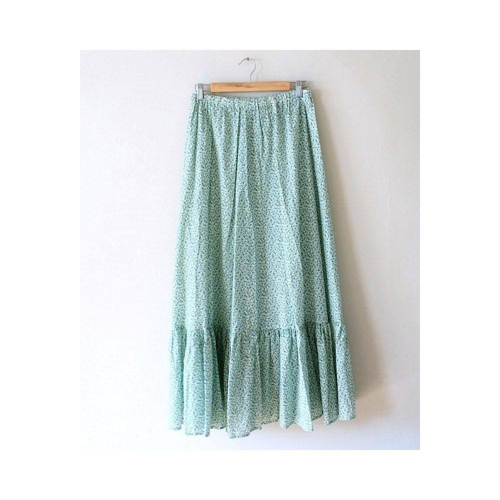 vintage 1970s mint green maxi skirt by vimvigorvintage on etsy